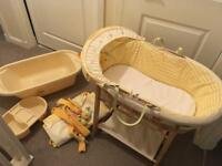 Moses basket, curtains and baby bath***all for £50***
