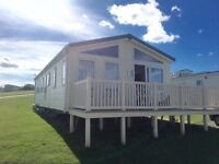 CHEAP STATIC CARAVAN / LODGE FOR SALE AT CRIMDON DENE nt WHITLEY BAY , SANDY BAY WITH SEA VIEWS