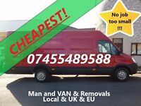 Cheapest! Hampshire Andover Winchester Basingstoke Man and VAN Large VAN xLWB 19m3 removal removals