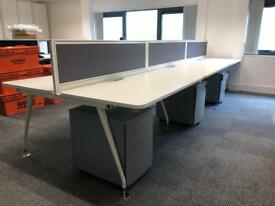 Office bench desk 6 person