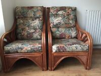 Conservatory furniture 2 seater sofa and 2 chairs