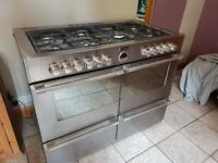 Stove Sterling 1100DF Stainless Range - complete and fully working - new kitchen forces sale