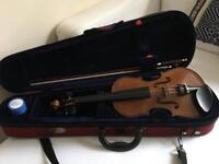 Stentor violin 1/2 size with case, bow and rosin