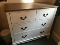 Melody maison chest of drawers (cream and dark wood)