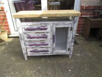 NEWLY MADE UNIQUE BESPOKE SHABBY CHIC SIDEBOARD/BATHROOM/HALL /KITCHEN CABINET.