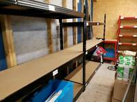 Heavy duty shelving 3 bays