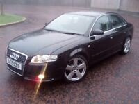 2007 BLACK AUDI A4 SLINE *LOW MILEAGE 109K* LONG MOT FSH Like Passat octavia mondeo 320d c220 golf