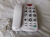 """Hyundai """" BIG BUTTON Home Telephone.- Model HY7253 Many Many Features- As New Condition"""