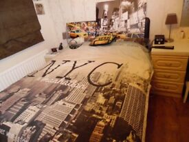 New York Double bed Duvet cover & Pillow cases