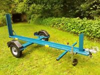 Motorbike Trailer : Heavy Duty. New wheels & tyres. Great condition. Good electrics. Loading ramp.