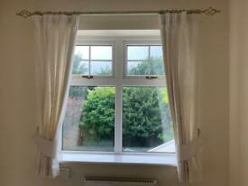 Cream curtains lined good quality