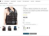 Extra small adults or large child's nylon vest