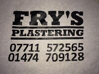 Reliable plasterers** WANTED **