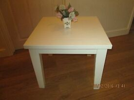 SOLID HARDWOOD COFFEE TABLE PAINTED LAURA ASHLEY COUNTRY WHITE