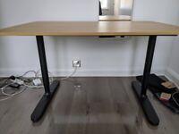 IKEA BEKANT DESK - OAK VENEER/BLACK- 120x80 cm