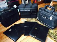 3 Laptop case briefcase and 4 business folders