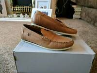 River Island boys tan loafers size 3 worn once