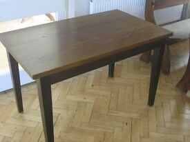 OAK RECTANGULAR TABLE, TAPERED LEGS, 'ECLIPSE'. (2 AVAILABLE). VERSATILE IN USAGE LOCATION.DELIVERY