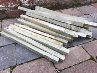 Over 30 Old Reclaimed Small Wooden Spindles