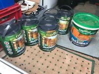 Cuprinol autumn gold shed and fence paint unopened 30 litres