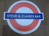 Personalized London Underground Tube Sign - free for collection only