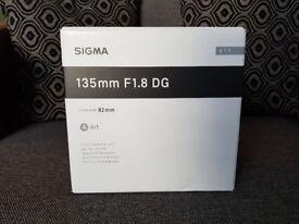 Sigma 135mm ART f/1.8 Canon mount