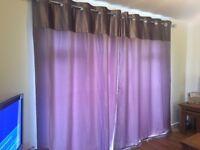 Next mauve eyelet curtains. £40. 228x229cm.