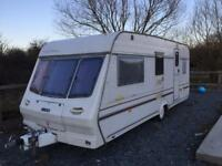 1998 LUNAR SOLAR 4 BERTH TOURING CARAVAN IN GOOD CONDITION WITH NO DAMP