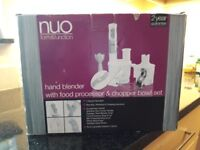 Brand new Nuo Hand Blender with Food Processor - still in it's original box!