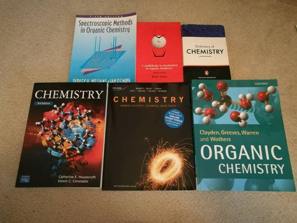 6 chemistry University textbooks - Housecroft, Claydon