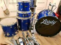 Leedy drum kit with stands