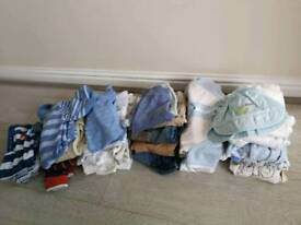 Up to 3 months baby boys clothes bundle