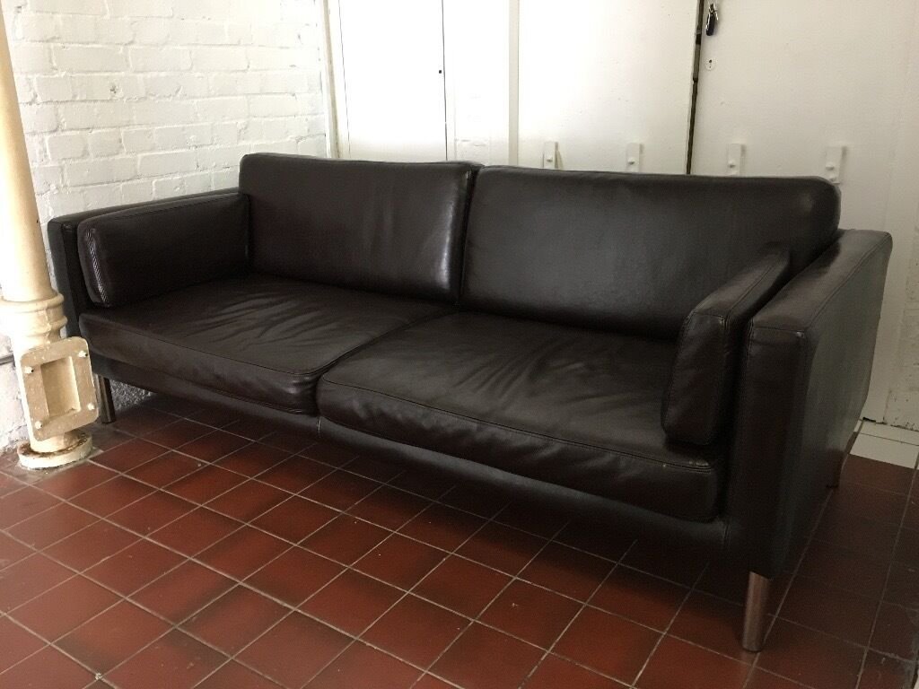 like new ikea s ter 2 5 seater faux leather sofa in