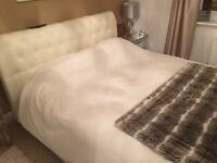 King Size Bed including luxury mattress, cost over £1000 hardly used exc condition