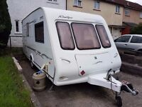 2 Berth Caravan 2002 Compass Rallye 482 with Awning