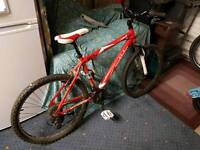 "Muddy fox rebel 18"" adult mountain bike with gusset pedals"