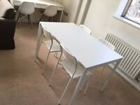 Ikea Dinning Room Table And Chairs Melltorpe Adde Full Set x 4