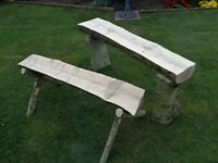 garden bench and plant stand