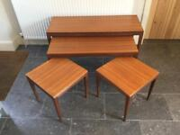 Richard Hornby RARE Afromosia Nest of Tables