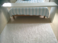 Overbed free standing White Shelf Unit from Ikea