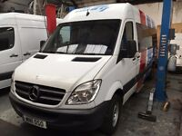 2011 SPRINTER BUS. DIESEL. DRIVER OPERATED SLIDING DOOR.NEW MOT. 9 SEATS.SERVICE. FREE WARRANTY.