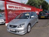 *HONDA CIVIC*TYPE S*55 REG*EXCELLENT CONDITION*10 SERVICE STAMPS*1 OWNER*YEARS MOT*GREAT VALUE £2195