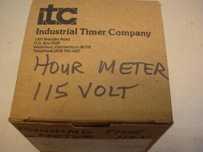 Industrial Timer Co/Autotrol model 110 elapsed time meter 120 volt Elapsed Time Timer