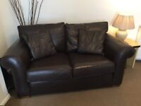 DURESTA 3 & 2 seater Brown leather sofas, Excellent Condition