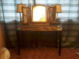 Mirrored side table or dressing table