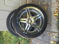"""Four 24"""" Tires and rims"""
