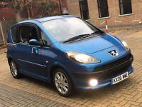 PEUGEOT 1007 1.6 PETROL AUTOMATIC MOT GREAT DRIVE SLIDING DOORS BLUE NOT 107 MINI SMART CORSA CLIO