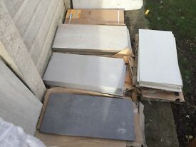 Job lot collection of porcelain tiles approx 50