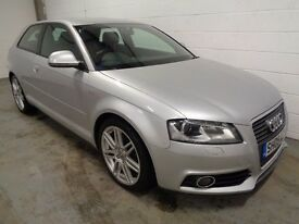 AUDI A3 S-LINE , 2009 REG, LOW MILES + HISTORY/JUST SERVICED, YEARS MOT, FINANCE AVAILABLE, WARRANTY