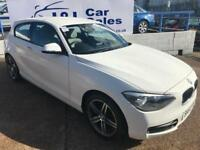 BMW 1 SERIES 2.0 116D SPORT 3d 114 BHP A GREAT EXAMPLE INSIDE AND OUT (white) 2012